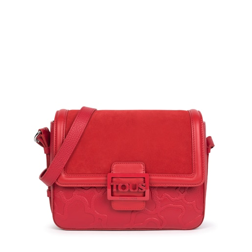 Medium red Tous Icon LOVE crossbody bag