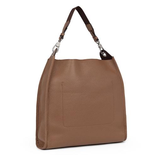 Large brown Leather Leissa Shoulder bag