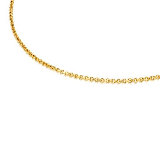Corrente média TOUS Chain em Prata vermeil de bolas, 50cm.