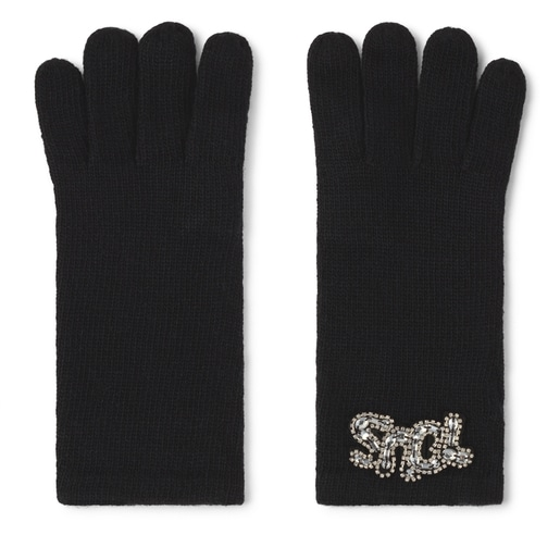 Black TOUS Cuarzo Gloves