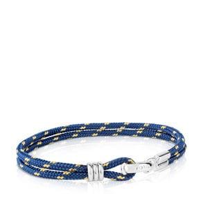 b99bd6e7f79e Pulsera TOUS Man de Cordón en color azul-amarillo y Plata