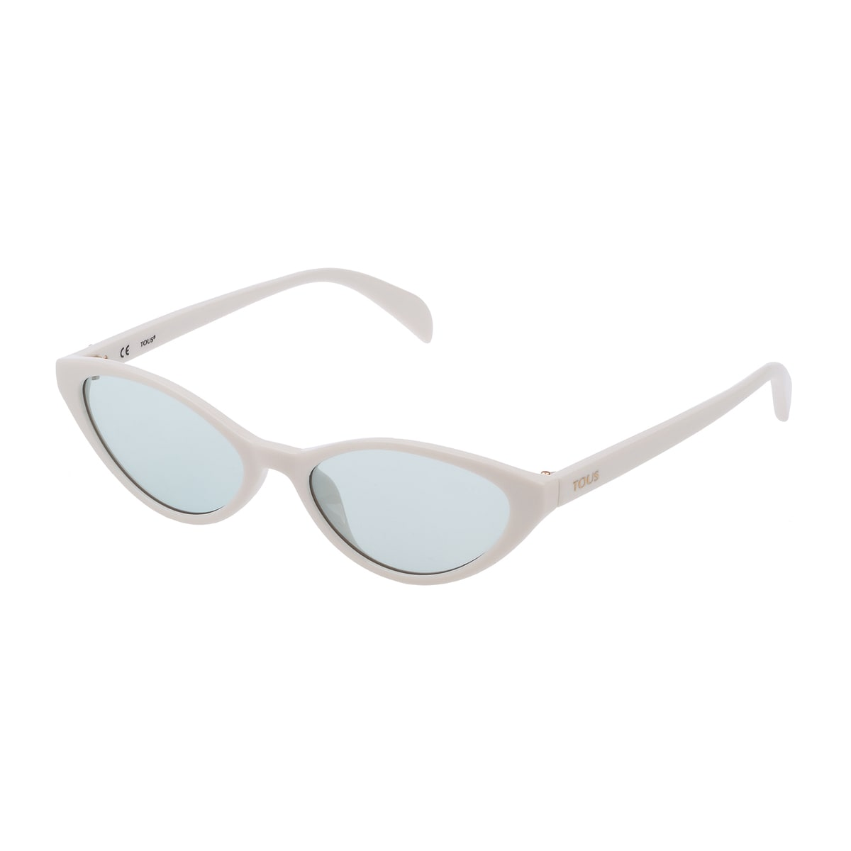 White Acetate Bear Cat Eye Sunglasses