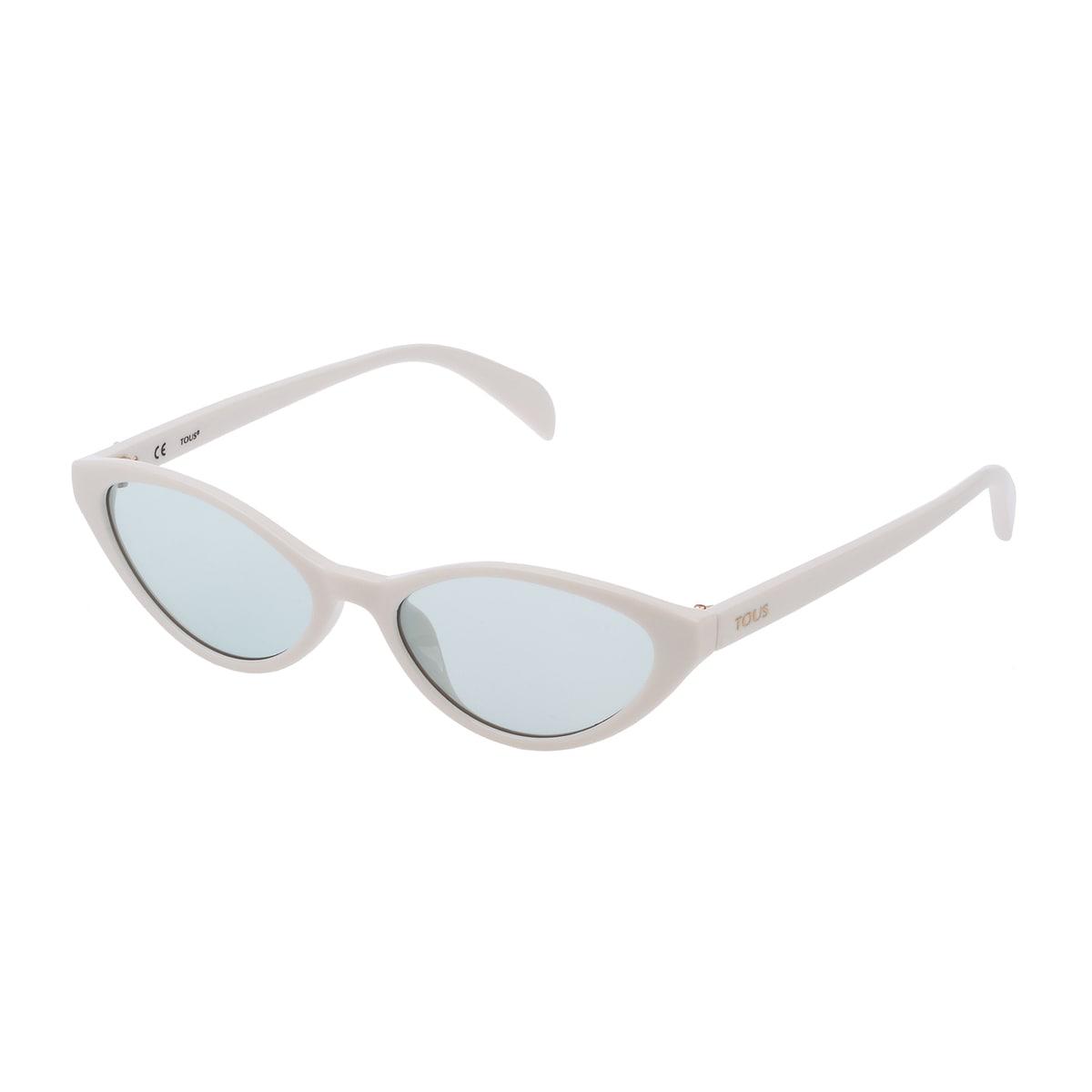 Ulleres de sol Bear Cat Eye d'acetat de color blanc