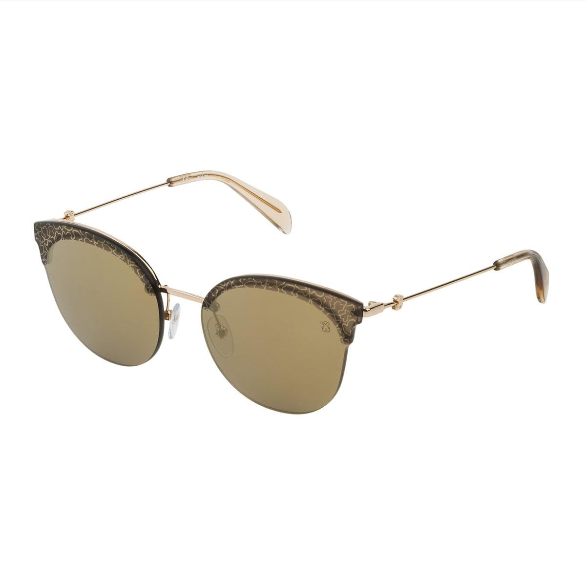 Goldfarbene Sonnenbrille Metal Matte aus Metall