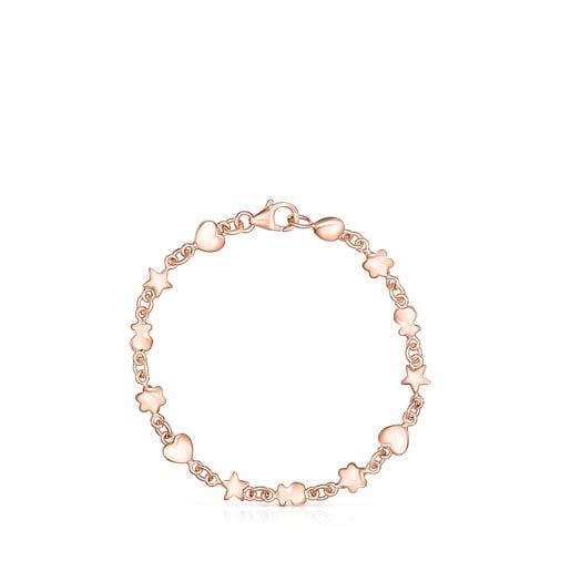 Bracelet Mini Icons en Argent Vermeil rosé