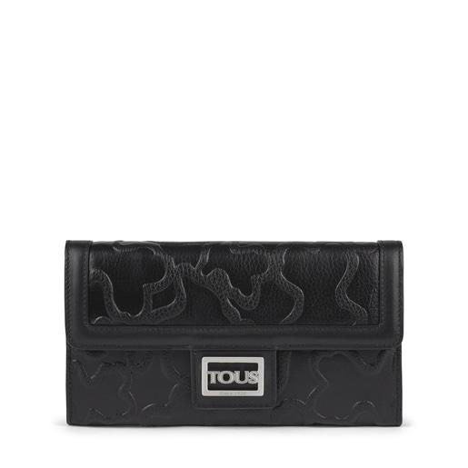 Medium black leather Tous Icon wallet