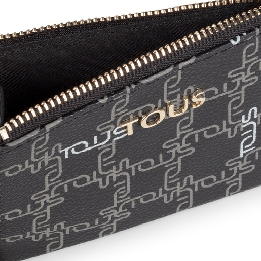 Black New TOUS Logogram Change purse-cardholder