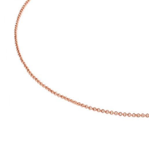 TOUS Chain choker in rose silver vermeil measuring 45 cm.