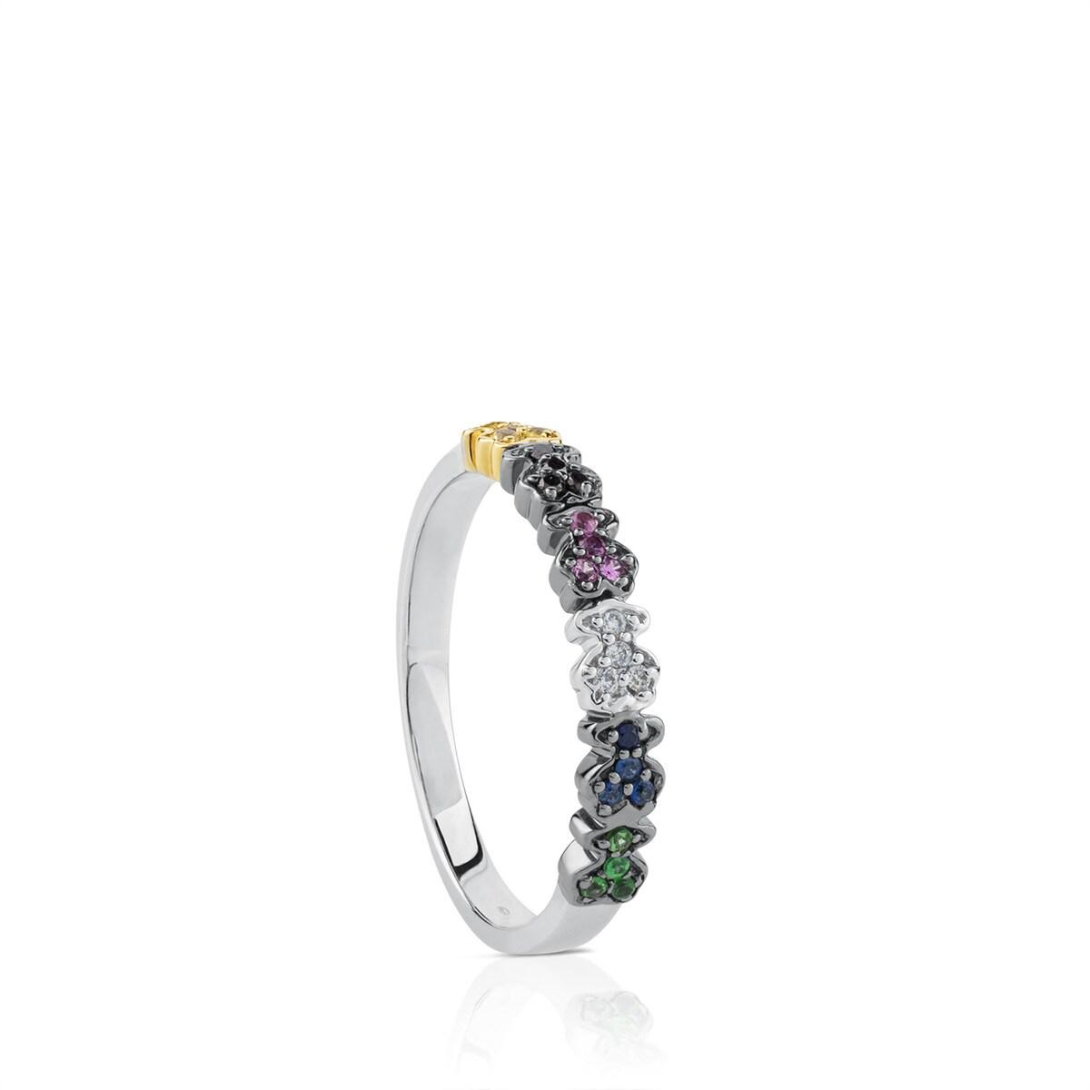 aaf9a28a1e57 Anillo Fancy de Oro blanco con Diamantes - Sitio web Tous España