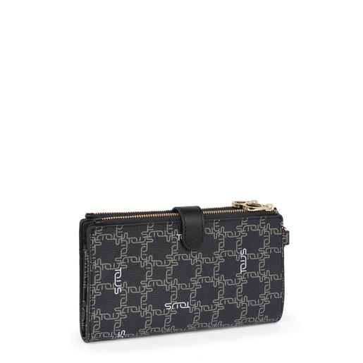 Black Tous Logogram wallet-clutch