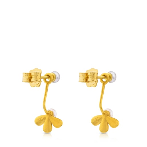 Gold Happy Moments Earrings with Pearl