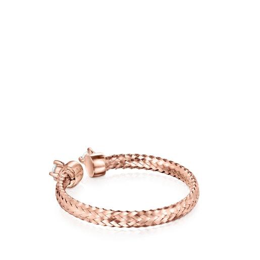 Anillo abierto Light de Oro rosa con Diamantes