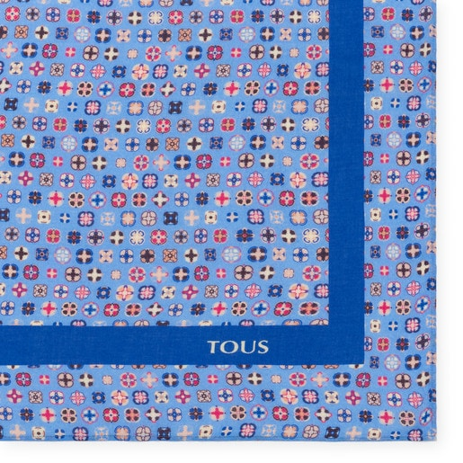 Pañuelo Mossaic en color multi-azul
