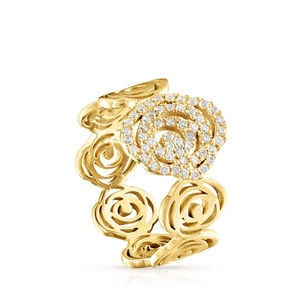 Gold ATELIER Rosa de Abril ring with Diamonds