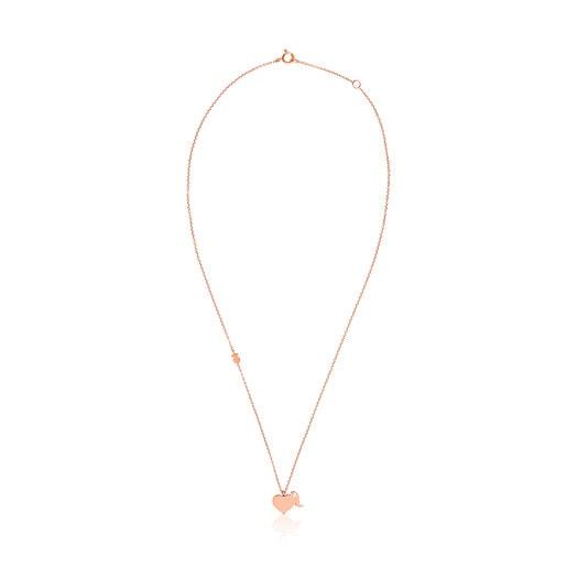 Collar LVR de Plata Vermeil rosa