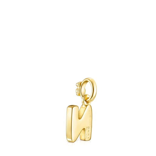Pingente Alphabet letra N em Prata Vermeil