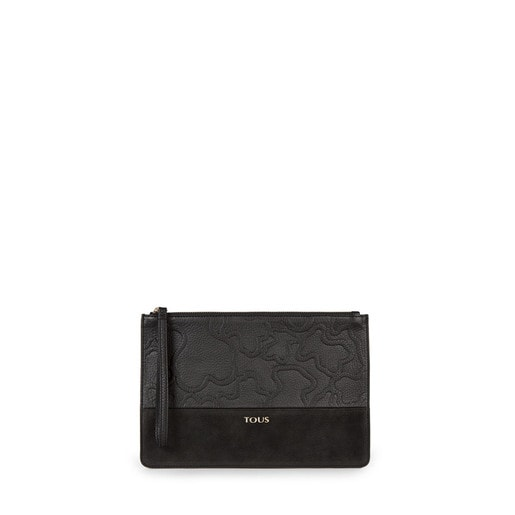 Black colored Leather Lake Clutch bag
