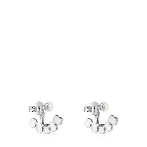 Ohrringe Mini Color aus Silber mit Edelsteinen