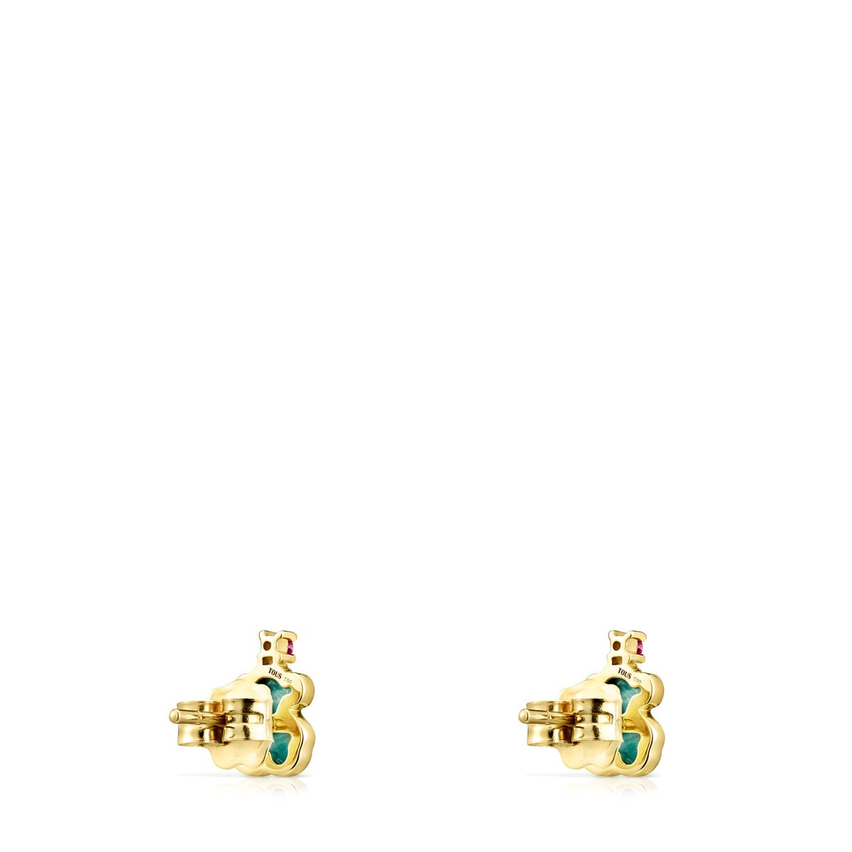 d4289bbf087 Gold TOUS Color Earrings with Amazonite and Ruby - Tous Site US