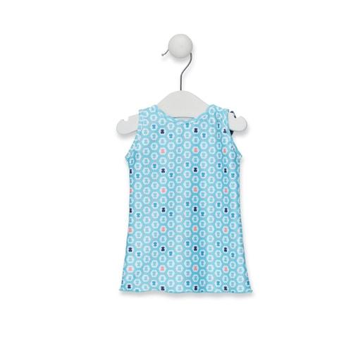 Vestido de playa lazos Exagon Azul Celeste