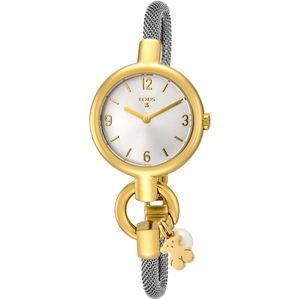 Rellotge Hold Charms d'acer IP daurat amb corretja d'acer