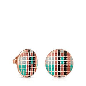 Rose Gold Vermeil Tartan Earrings