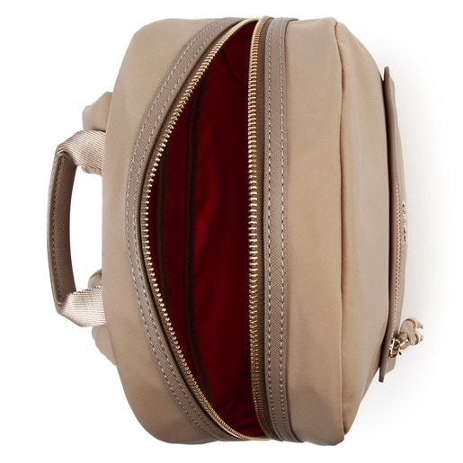 Taupe colored Canvas Brunock Chain Backpack