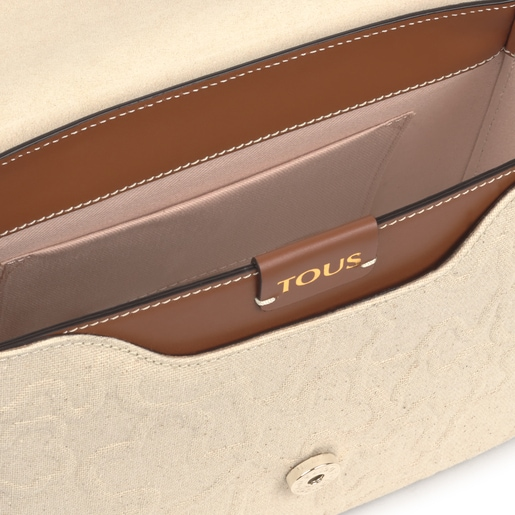 Medium beige and brown TOUS Icon Crossbody bag