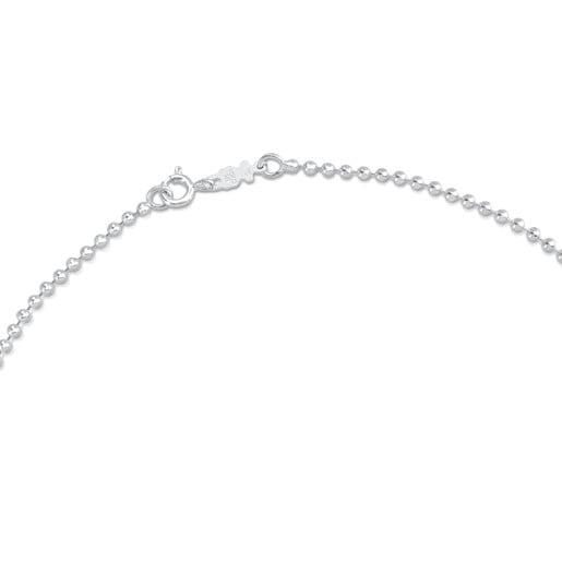 40cm Silver TOUS Chain Choker with 2.2mm balls.