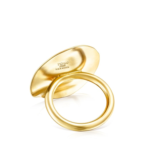 Silver Vermeil Nenufar petal Ring
