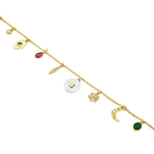 Pulsera Gem Power de Oro con Gemas y Diamantes