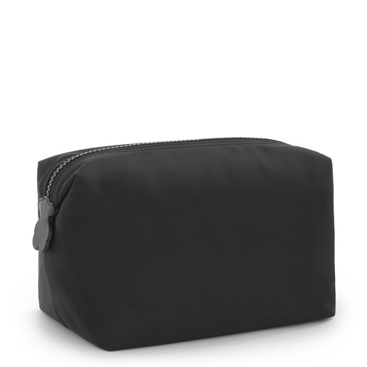 Large black Pleat Up toiletry bag