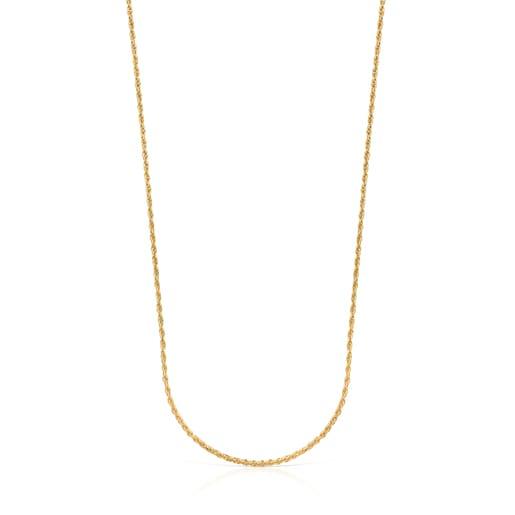 Mittellange Halskette TOUS Chain aus Vermeil-Silber mit Kordel