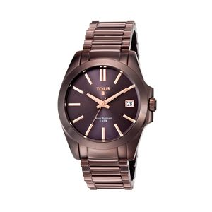Chocolate IP Steel Drive Watch