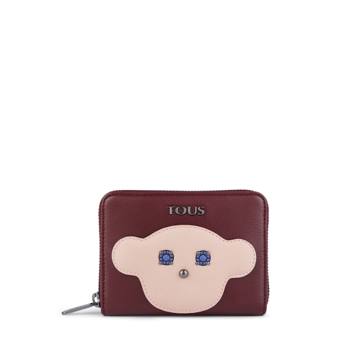 Small burgundy Patch Maia Wallet