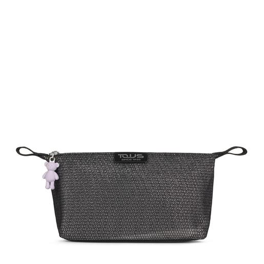 Medium black and gray Ina Toiletry bag