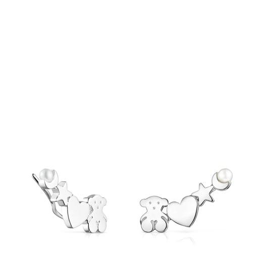 Ohrstecker Nocturne aus Silber mit Perle