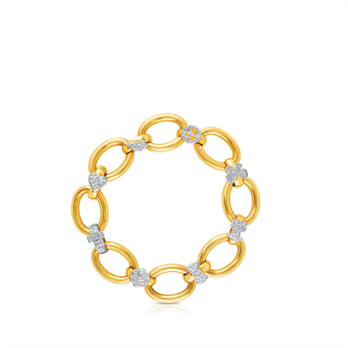 Gold Gen Bracelet with Gold and Diamond