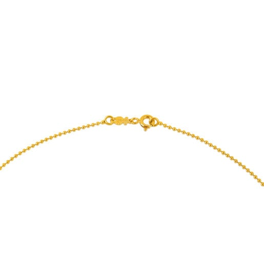 40cm Gold TOUS Chain Choker with 1.2mm balls.