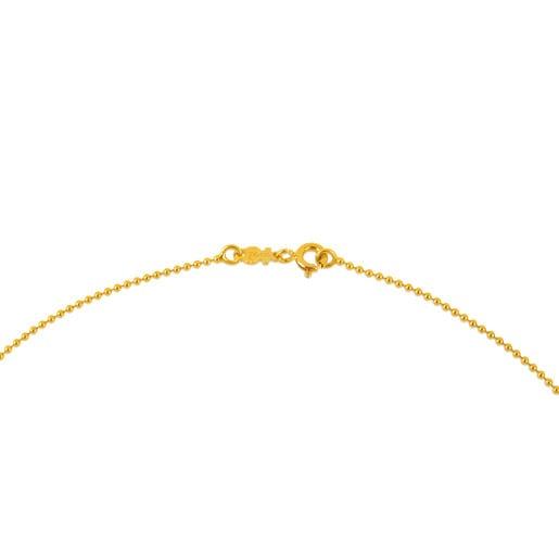 Gargantilla TOUS Chain de oro de bolas de 1,2mm, 40cm.
