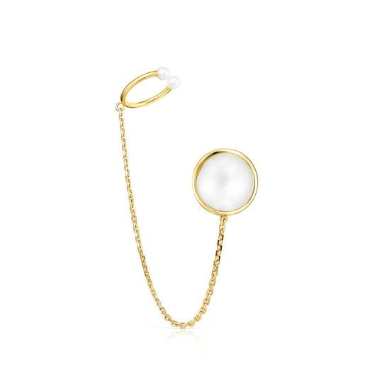 Earcuff de oro y perlas Avalon