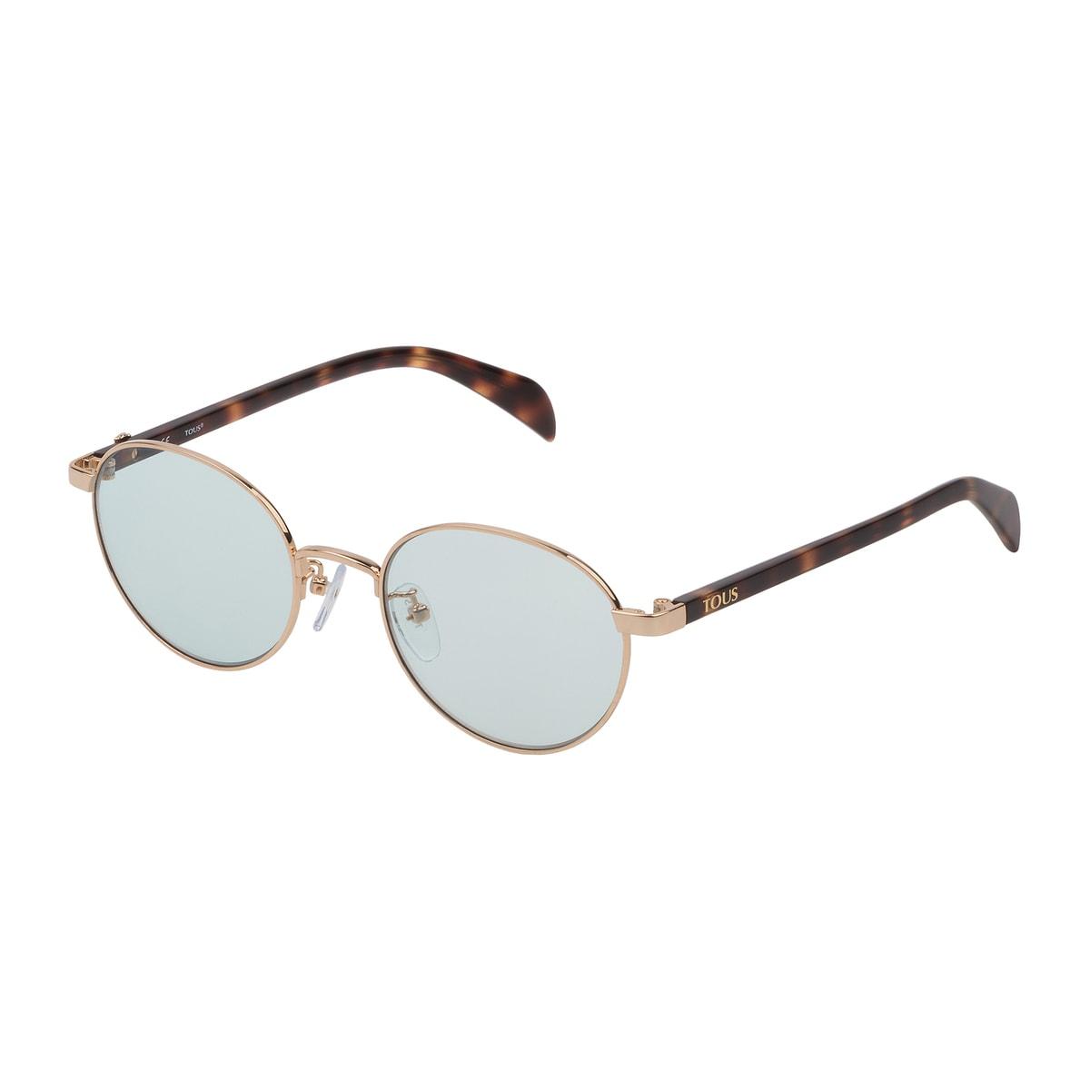 Sonnenbrille Metal Bear aus goldfarbenem Metall