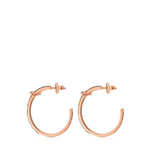 Rose Vermeil Silver Motif Earrings
