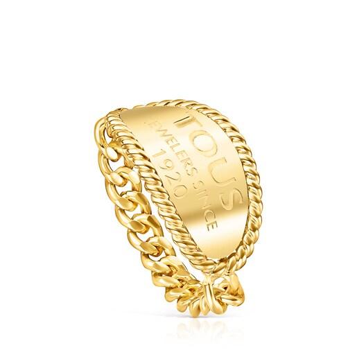 TOUS Ring Minne aus Vermeil-Silber