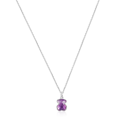 Silver and Amethyst Icon Color Necklace