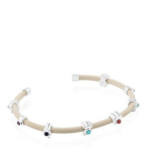 Pulsera Super Power de Plata con Gemas