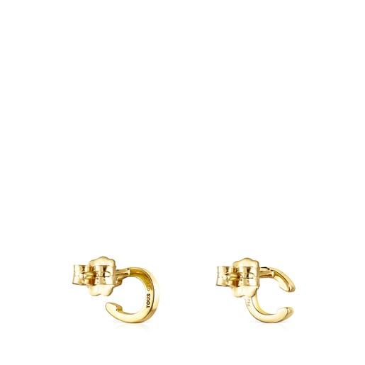 Aretes TOUS Good Vibes herradura de oro y diamantes