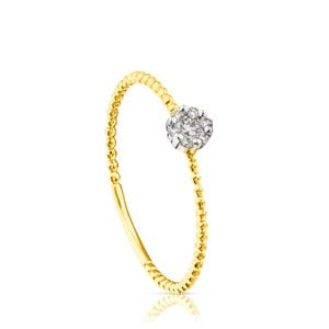 Gold TOUS Brillants Ring with Diamonds