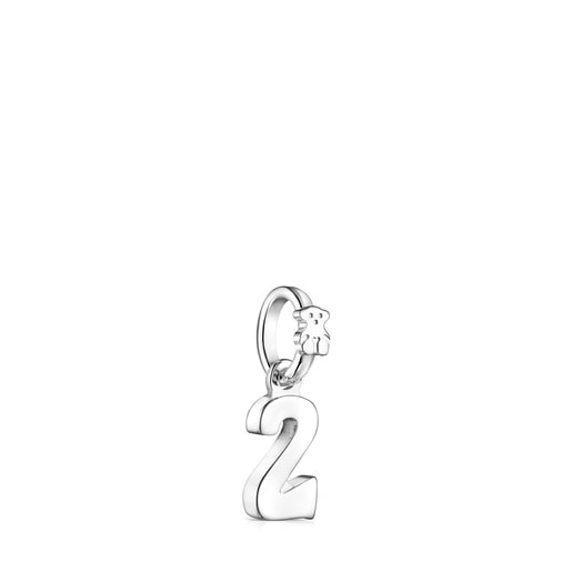 Silver Numbers number 2 Pendant
