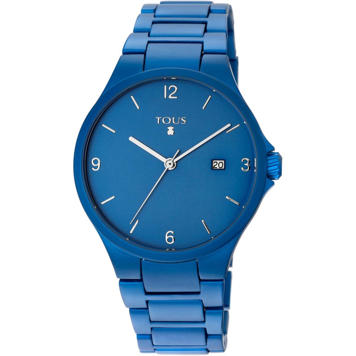 Reloj Motion Aluminio de aluminio anodizado azul
